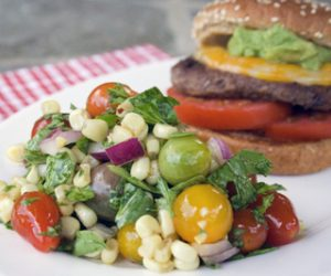 Trader Joe's perfect burger recipe and side salad