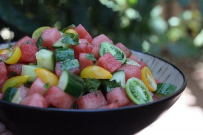 Watermelon Cucumber Salad recipe Cooking Trader Joes