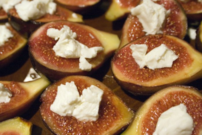 Figs and Goat Cheese appetizer recipe Cooking Trader Joes