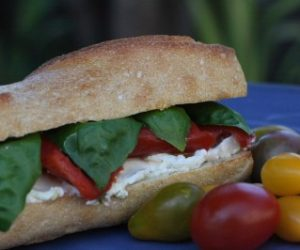 Trader Joes Roasted Pepper Goat Cheese Sandwich recipe