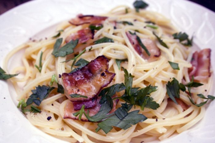 Spaghetti carbonara recipe Cooking Trader Joes