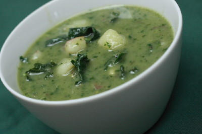Potato and Kale Soup Recipe - Cooking with Trader Joe's