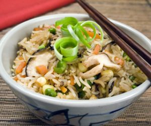 Trader Joes Shiitake mushroom Fried Rice recipe