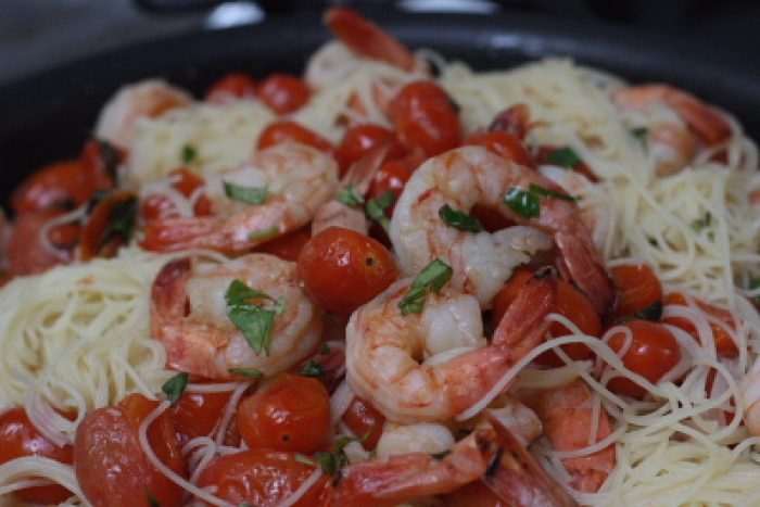Shrimp Tomato Capellini recipe Cooking Trader Joes