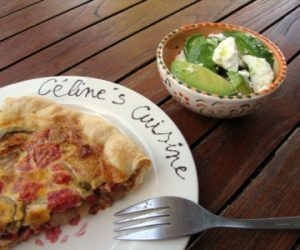 French Quiche and Salad recipe Cooking with Trader Joes