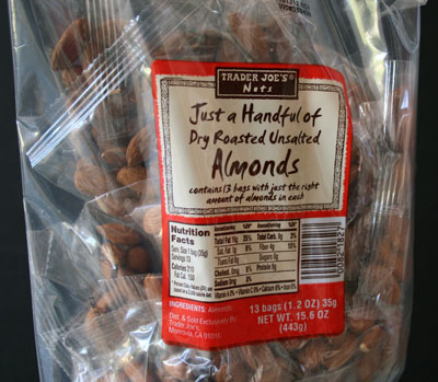 Just a Handful Almonds Trader Joes