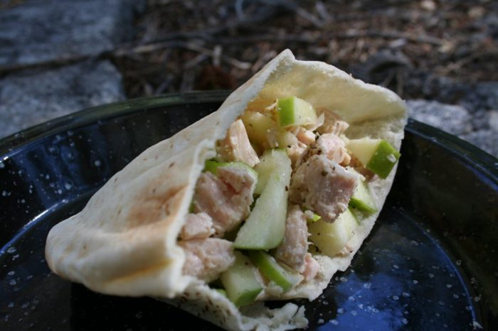 Granny Smith Apple Chicken Pita recipe Cooking Trader Joes