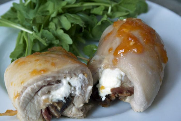 Apricot stuffed chicken recipe cooking Trader Joe's
