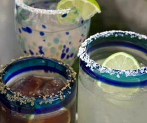 Margaritas recipe using limes, tequila, and juices from Trader Joes