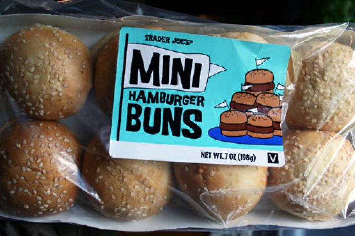 Mini Hamburger Buns 4th of July ideas Cooking with Trader Joe's