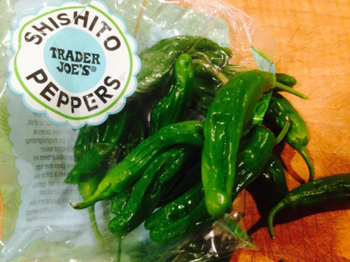 Shishito Peppers Cooking with Trader Joe's
