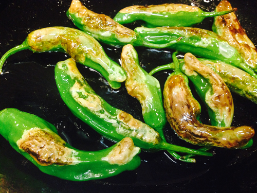 Shishito Peppers Blistered Cooking with Trader Joe's
