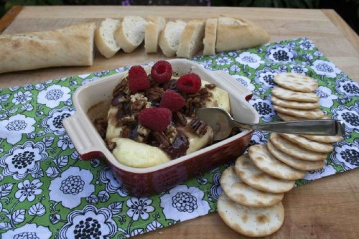 Raspberry Baked Brie Recipe Cooking with Trader Joes