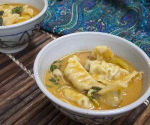 Thai Potstickers Soup Cooking with Trader Joe's