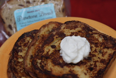 panettone french toast Cooking with Trader Joe's