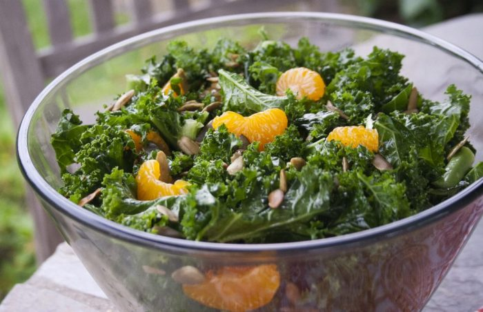SALAD Citrus Kale Salad recipe