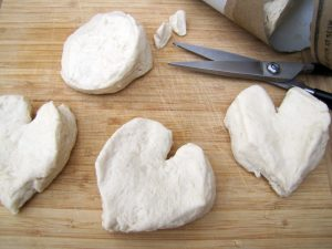 Strawberry shortcake hearts dough