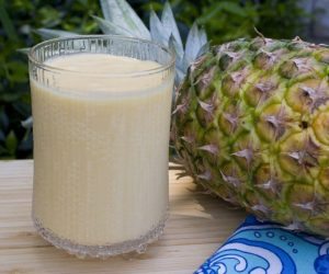 Mango lassi recipe, an easy Indian smoothie using Trader Joe's Mango Chunks