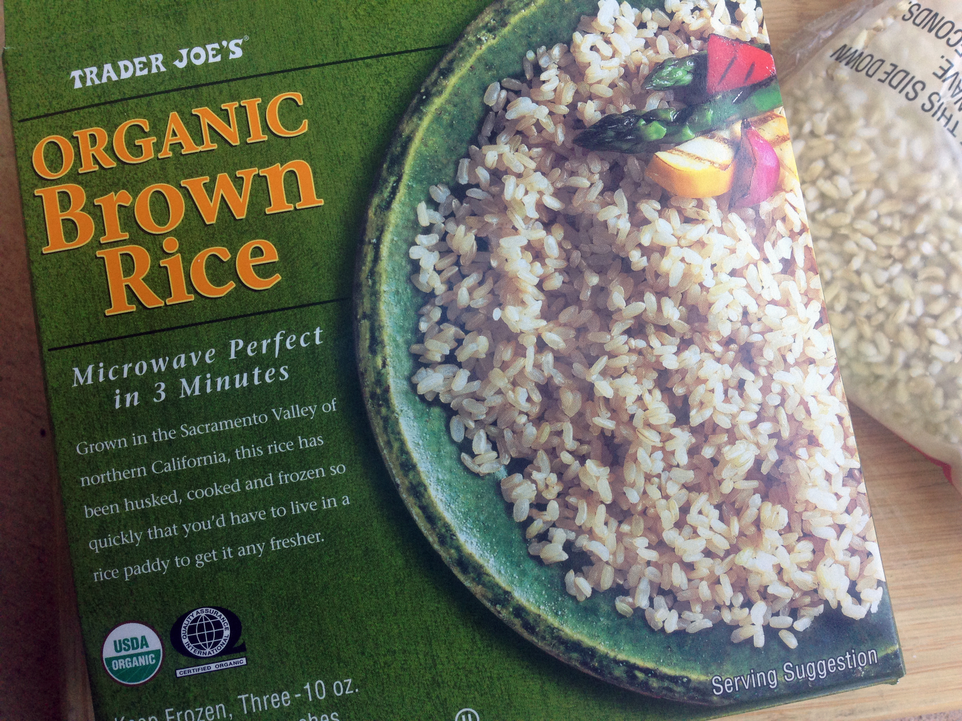 Trader Joes Frozen Organic Brown Rice